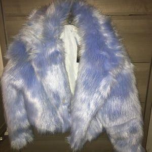 Baby Blue Faux Fur Jacket